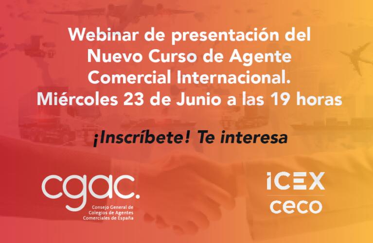 Webinar de presentación del nuevo Curso de Agente Comercial Internacional